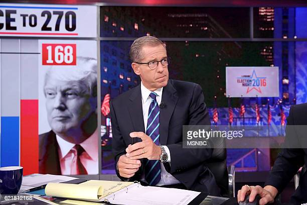 COVERAGE Election Night 2016 Pictured Brian Williams Anchor The 11th Hour with Brian Williams on Tuesday November 8 2016 from New York