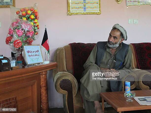 Election observer Ali Stanekzai visiting local office of campaign for presidential candidate Abdullah Abdullah to discuss allegations of fraud with...
