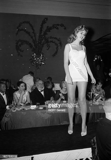 Election Of Miss France Miss Europe In AixLes Bains En France en janvier 1960 Lors de l'élection de missFrance et de missEurope à Aix les Bains...