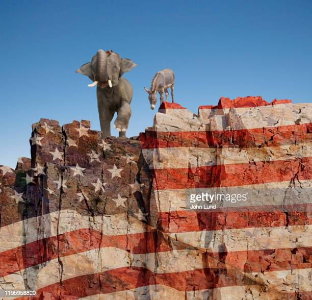 election partisan politics at the edge - partisan politics stock pictures, royalty-free photos & images