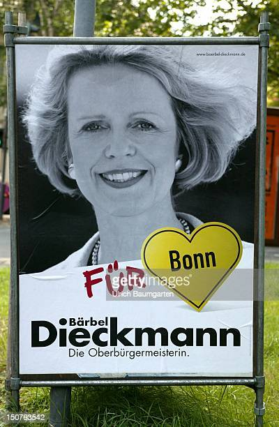 Election poster from Baerbel Dieckmann major from Bonn on the occasion of the local elections in North RhineWestpahlia Because of the bad image of...
