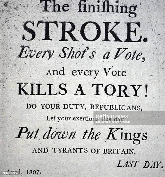 Election poster of 1807 published in the USA