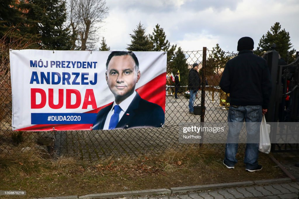 Andrzej Duda Campaigns In Presidential Election : News Photo