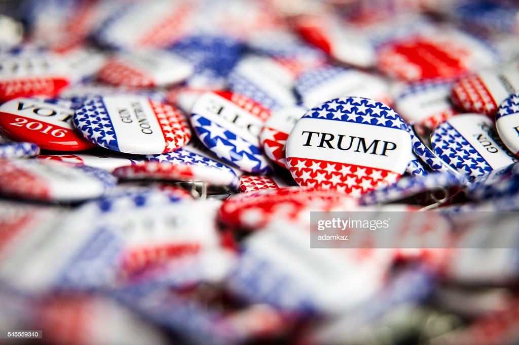 Election Vote Buttons : Stock Photo