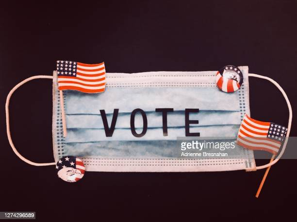 2020 election voting covid19 mask - american culture stock pictures, royalty-free photos & images
