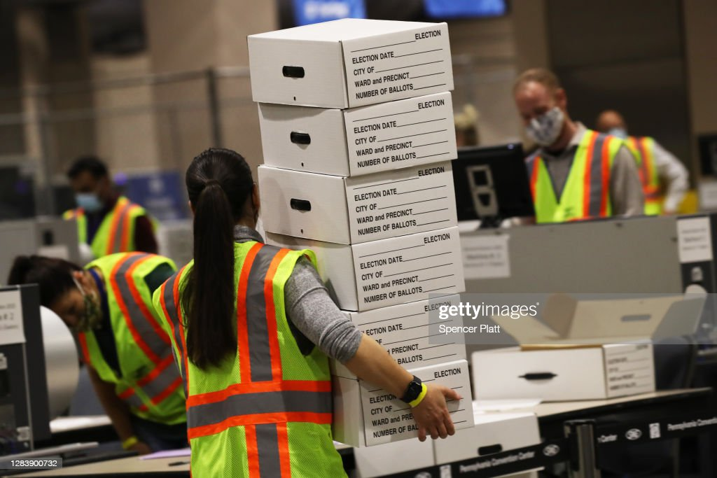 Pennsylvania Continues To Count Ballots Day After Election : Nachrichtenfoto
