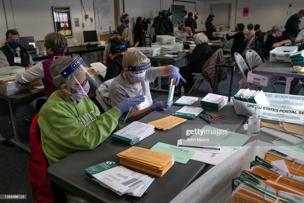 Michigan Begins Processing Absentee Ballots One Day Ahead Of Election : News Photo