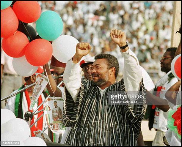 Elections generales Ghaneennes du 7 decembre Le president Jerry Rawlings candidat a sa prepro succession a l'election presidentielle du 7 decembre a...