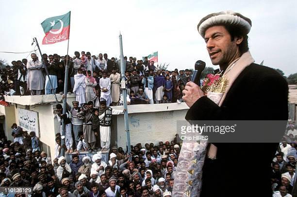 Elections Imran Khan in Pakistan in January 1997