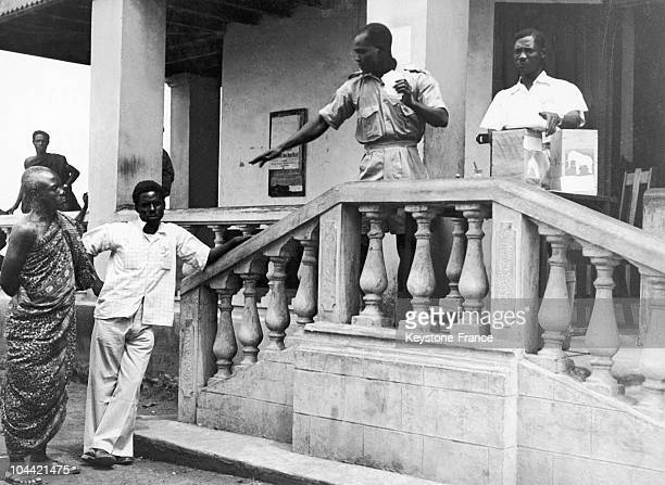 Elections In Gold Coast With Eben Agyeman And Kwabena Edusei In 1951