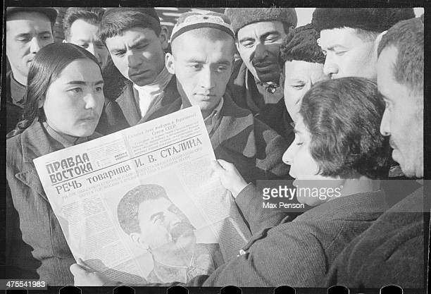 Elections to the Supreme Soviet Joseph Stalin's Speech published in the newspaper ' Pravda Vostoka ' Tashkent 1937