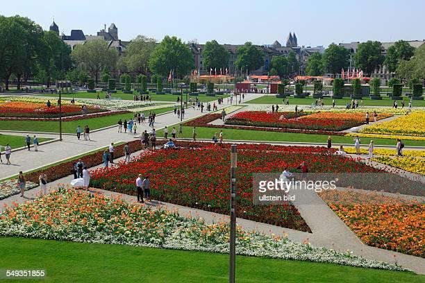 Electoral Palace Koblenz Bundesgartenschau 2011 BUGA 2011 castle gardens at springtime