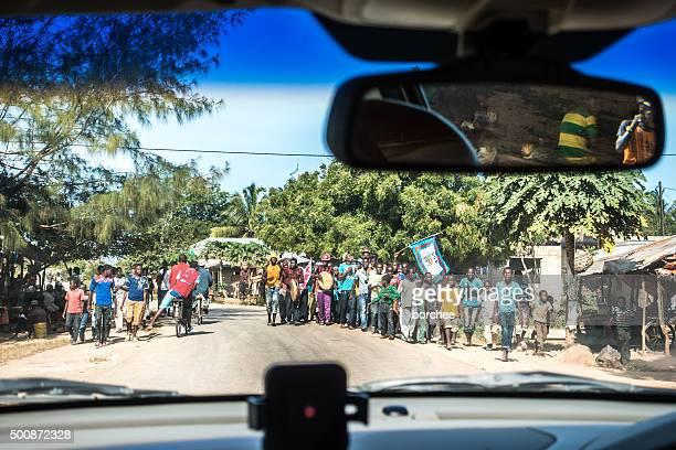 Wahlkampf Rally in Sansibar Insel