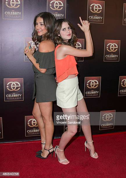 Electra Formosa and actress Laura Marano attend The Celebrity Experience panel at Universal Hilton Hotel on July 12 2015 in Universal City California
