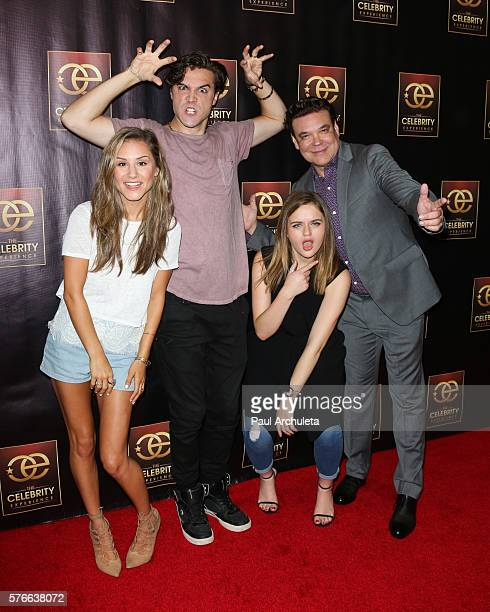 Electra Formosa Ryan McCartan Joey King and George Caceres attend the Celebrity Experience QA panel at The Universal Hilton Hotel on July 16 2016 in...