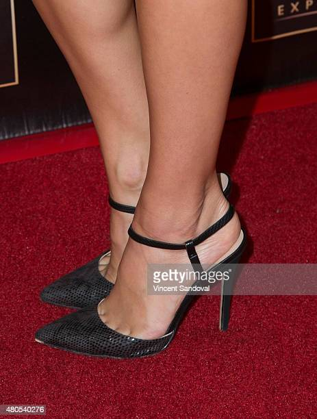 Electra Formosa shoe detail attends The Celebrity Experience panel at Universal Hilton Hotel on July 12 2015 in Universal City California