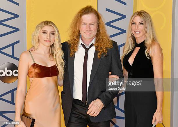 Electra Mustaine Dave Mustaine and Pamela Anne Casselberry attend the 50th annual CMA Awards at the Bridgestone Arena on November 2 2016 in Nashville...