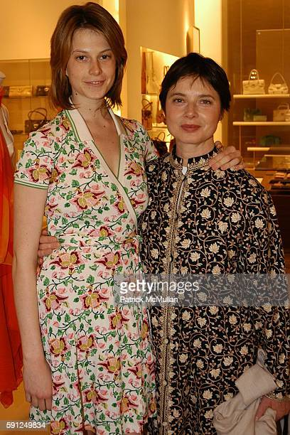 Electra Rosselini and Isabella Rossellini attend Massimo Ferragamo Patti Hansen Theodora and Alexandra Richards Host the Exhibition ORIGIN MOTHER...