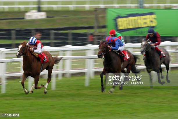 Electra Star ridden by Adam Beschizza gets up to beat leader Little Black Book ridden by Harry Bentley in the BCL Burton Copeland Handicap