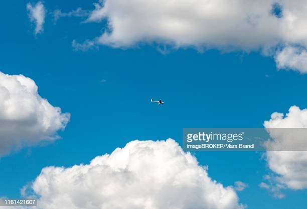 electric airplane flying in front of a blue cloudy sky, pipistrel mod 167 alpha electro, international paris air show, le bourget, paris, france - hitech mod a stock pictures, royalty-free photos & images