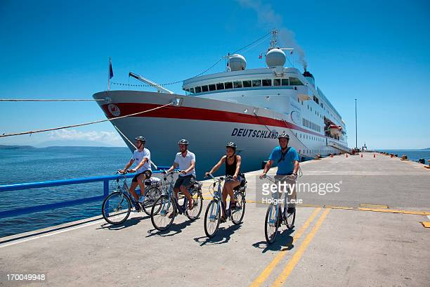 Electric bicycles from cruise ship MS Deutschland