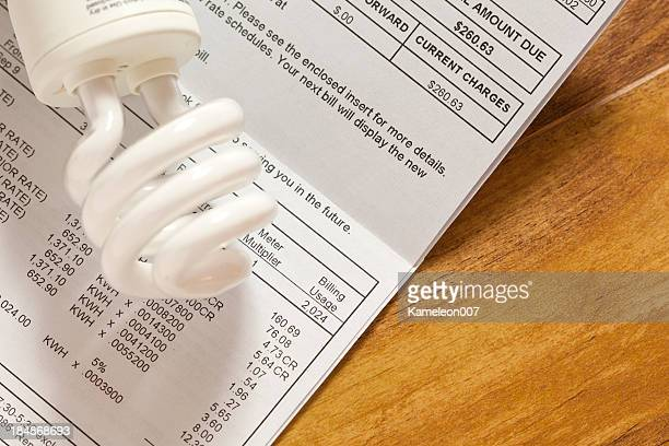 electric bill - financial bill stock pictures, royalty-free photos & images