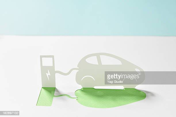 Electric car and electric stand