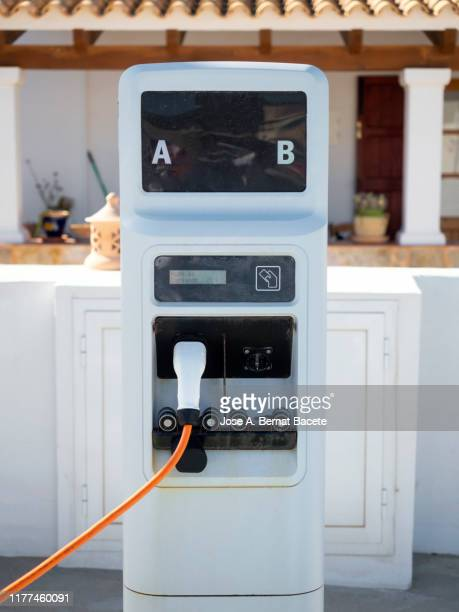 electric car charging station. - electric vehicle charging station stock pictures, royalty-free photos & images