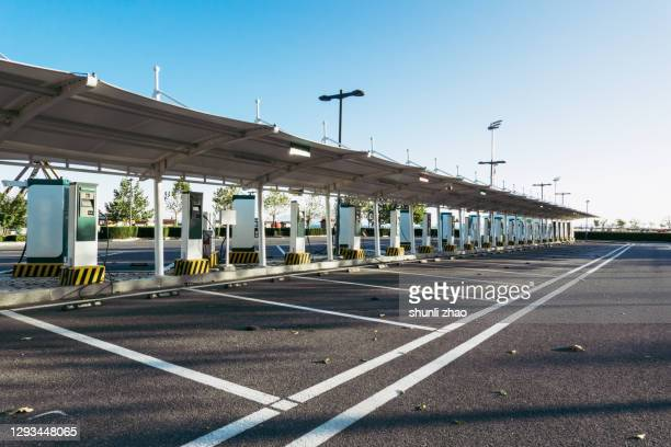 electric car charging station - station stock pictures, royalty-free photos & images