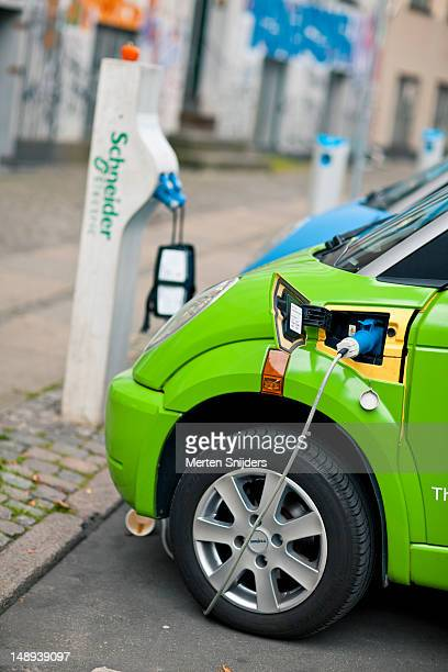 Electric car charging stations at Dyrkob.