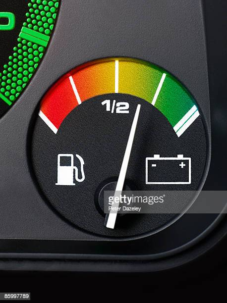 Electric car fuel gauge.