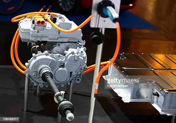 A electric car magnetic motor is shown during the eCarTec 2010 the 2nd International trade fair for electric mobility at the New Munich Trade Fair...