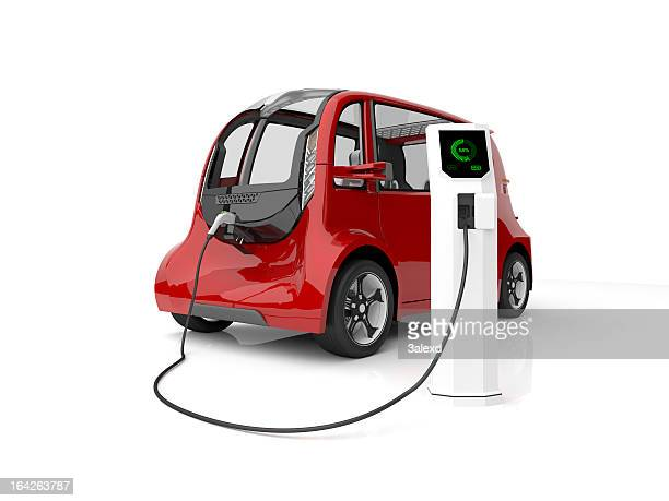 electric car - electric vehicle charging station stock photos and pictures