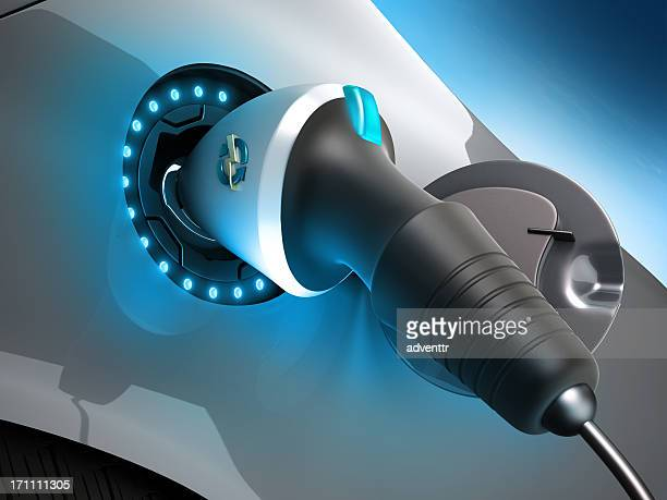 electric car plug - electric vehicle charging station stock photos and pictures