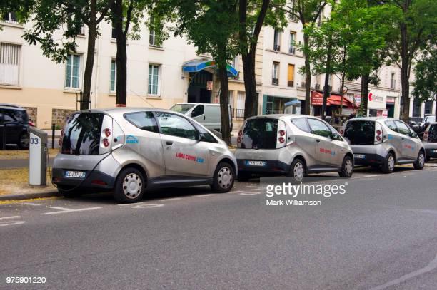 Electric cars in Paris.