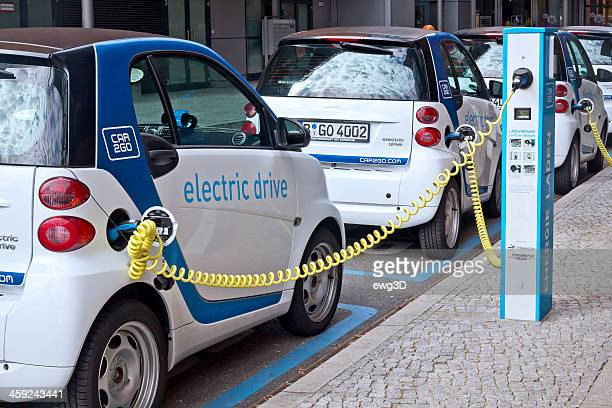 Electric cars parking