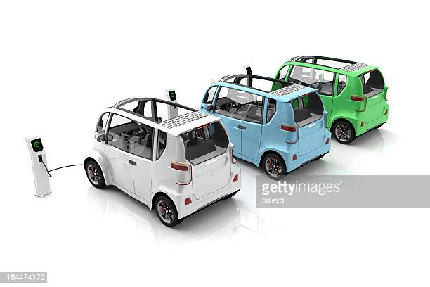 electric cars - futuristic car stock pictures, royalty-free photos & images