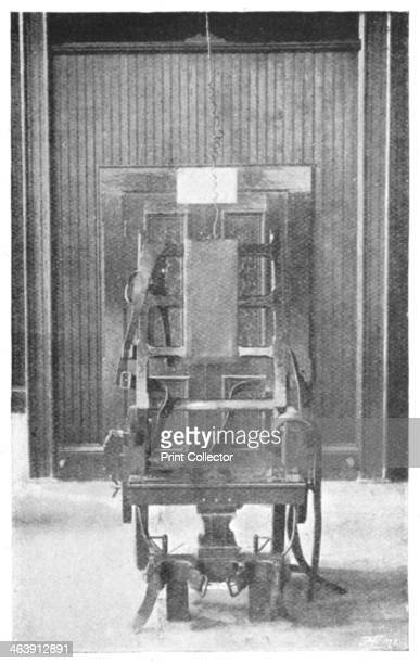 Electric chair 1898 The Death Chair In reality it is a simple though exceedingly strongly made ordinary chair the electric apparatus being entirely...