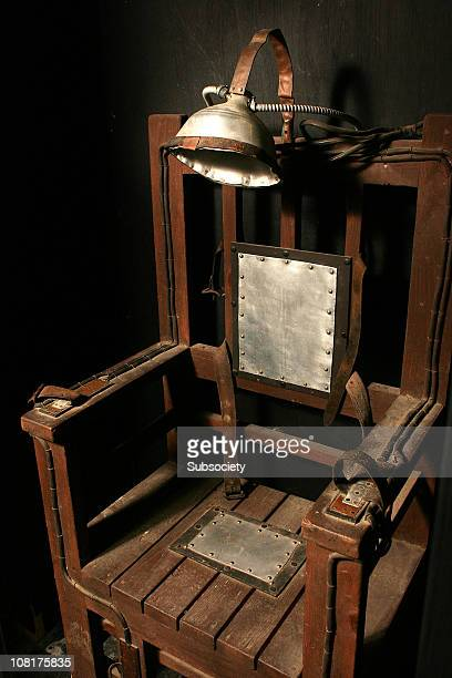 electric chair - electric chair stock photos and pictures