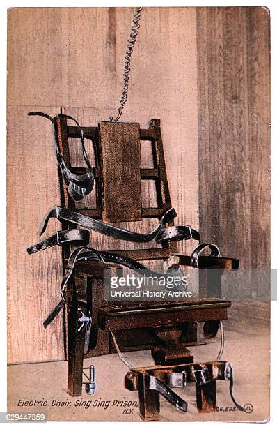 Electric Chair Sing Sing Prison New York USA circa 1900
