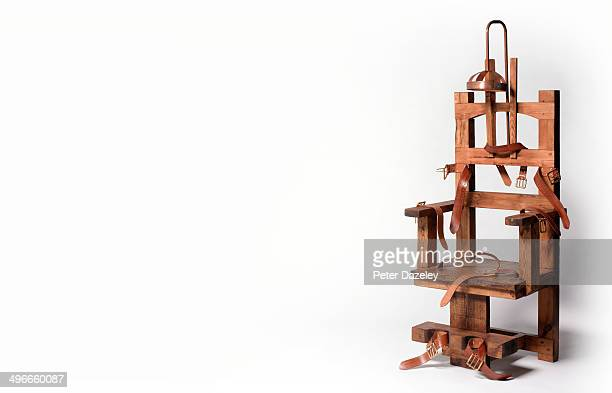 electric chair with copy space - electric chair stock photos and pictures