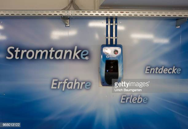Electric charging station/electric filling station in a Bonn underground car park Photo on the topics electric cars electric charging station...