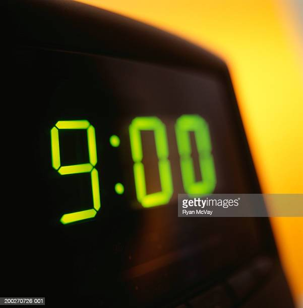 electric clock, close-up - digital clock stock photos and pictures
