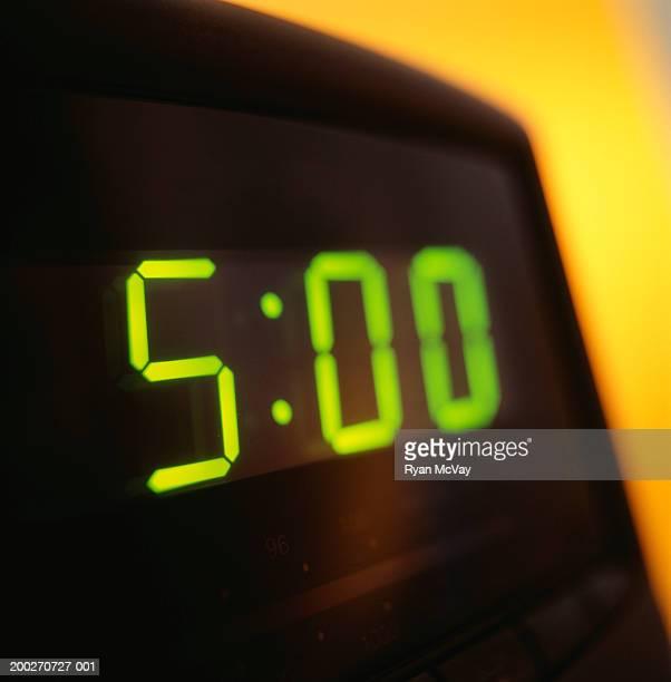 Electric clock, close-up
