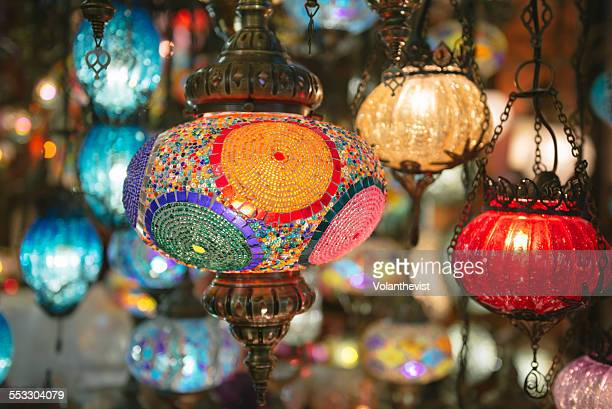 Electric colorful lamps in Grand Bazaar, Istanbul