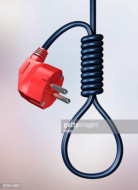 Electric Cord Tied as Noose