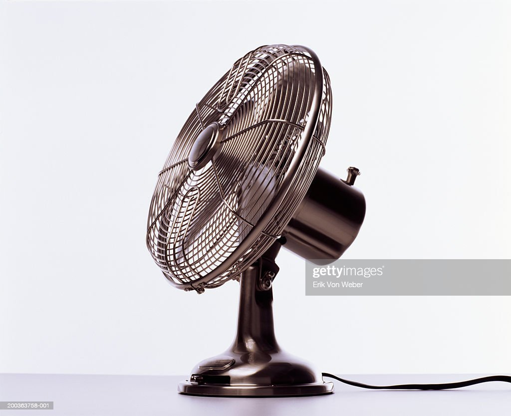 Electric Fan Side View High-res Stock Photo