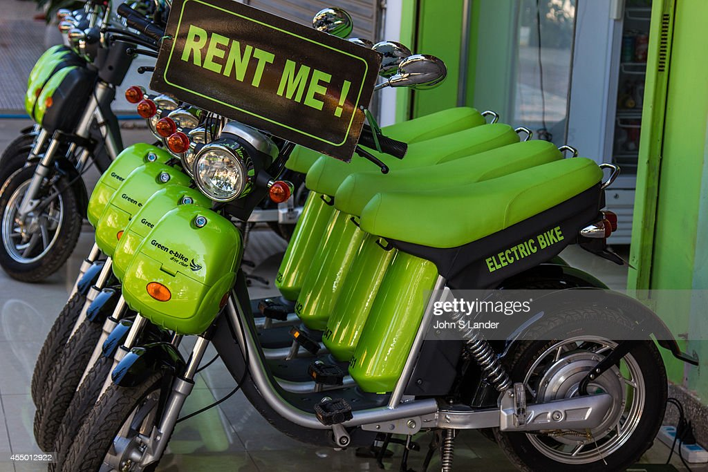 Electric Green Bike Rentals Until Honda And Suzuki Start