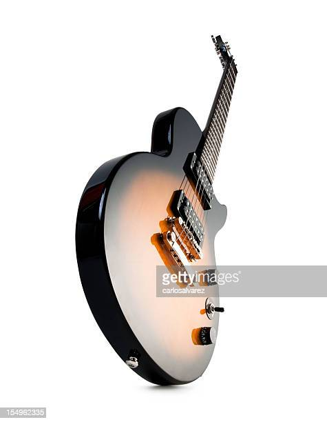 electric guitar isolated with clipping path - electric guitar stock pictures, royalty-free photos & images