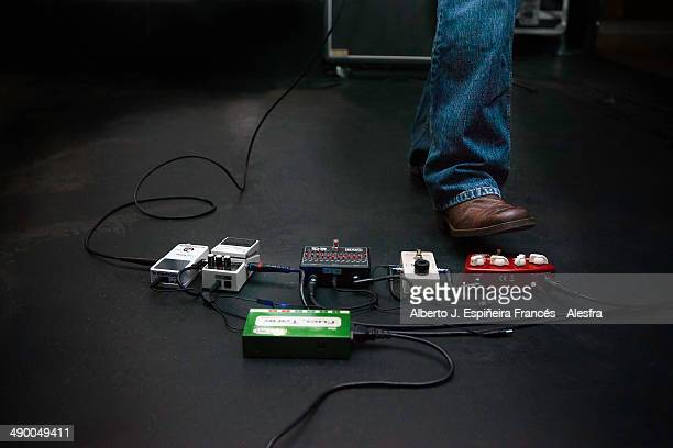 Electric guitar pedal and boot